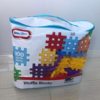 Free Delivery Brand New Little Tikes Waffle Blocks Bag (100 Piece)