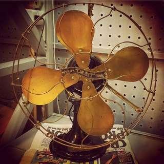 英國 古董風扇 360度