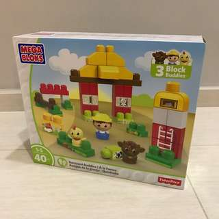 Free Delivery Brand New Mega Bloks First Builders Barnyard Buddies Building Set