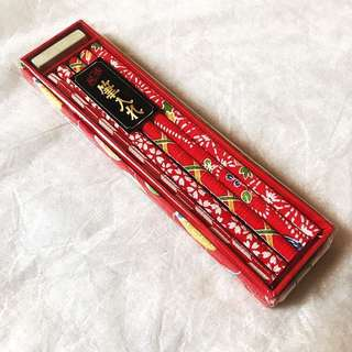 New - Japanese fabric pencils (with eraser) - cute packaged boxed set