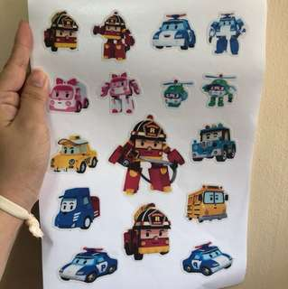 Robocar poli luggage sticker A4