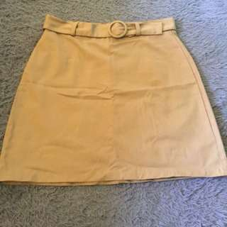 Beige color skirt