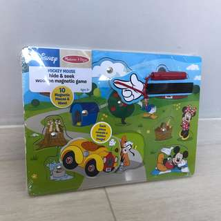 Free Delivery Brand New Melissa & Doug Disney Mickey Mouse Hide and Seek Wooden Magnetic Game