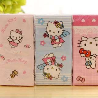 BN Special Edition Imported Hello Kitty Print Pocket Tissue - 1 for $1.80, 3 for $4.50