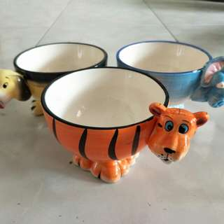 Cute animal design bowl for kids