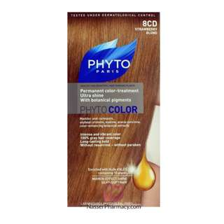 """PHYTO COLOR SHADE """"8 CD STRAWBERRY BLOND """""""