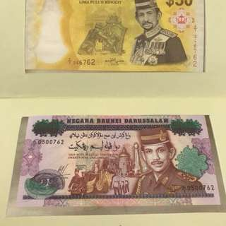 One Set BND25 (Silver Jubilee) and BND50 (Golden Jubilee) Circulation Note