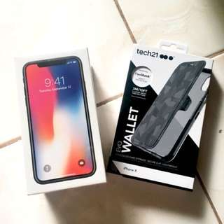 Brand new iPhone X with free original case worth ₱2,000
