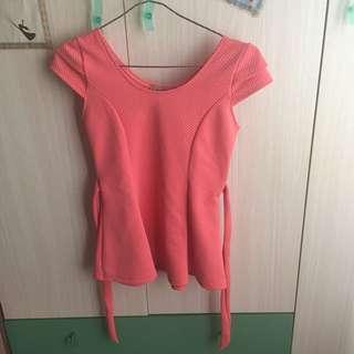 Coral Pink Top