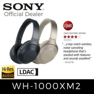 [BNIB SEALED] Sony WH-1000XM2 Black Wireless Noise Cancelling Headphones with Sony Warranty