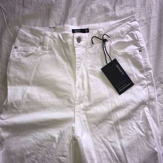 Glassons white high waisted jeans