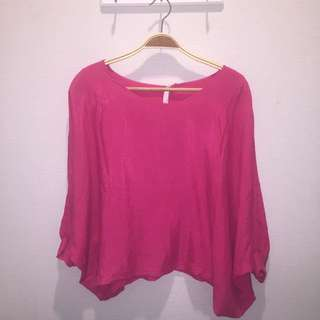Pink Blouse Big Size