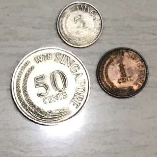 Old Coins - 1978 coins set