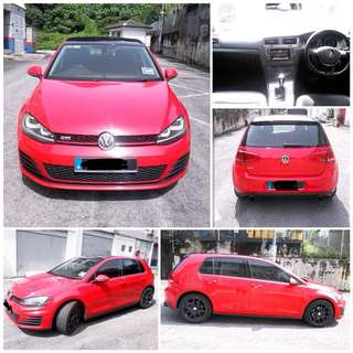 SAMBUNG BAYAR/CONTINUE LOAN  VW GOLF MK7 TSI 1.4 YEAR 2014 MONTHLY RM 1650 BALANCE 5 YEARS 4 MONTHS ROADTAX OCT 2018 LEATHER SEAT UNDER WARRANTY AKRAPOVIC EXHAUST TIPTOP CONDITION  DP KLIK wasap.my/60133524312/mk7