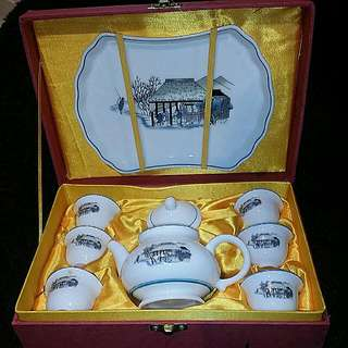 Chinese Teaset Teapot Teacups And Tray Comes With Original Gift Box