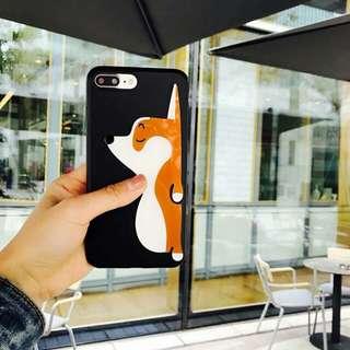 Corgi Softcase Black Iphone 6/6+/6s/6s+/7