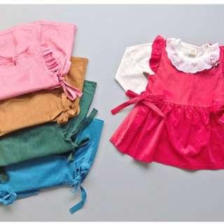 Baju baby anak perempuan, dress anak cewek murah