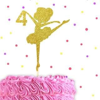 Ballerina Birthday Cake Topper