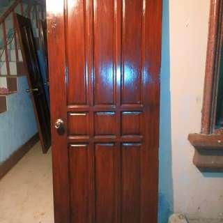 Red mahogany solid wood doors