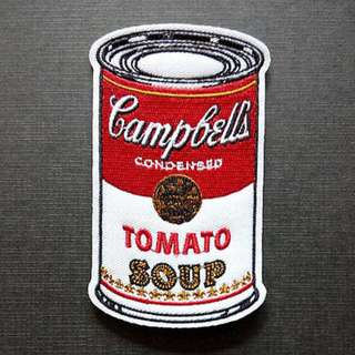 Campbell's Soup Campbell Pop Art Embroidered Iron On Patch