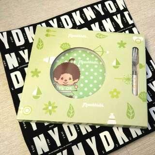 Ok 現貨 Monchhichi (綠色) Circle k  齊齊派對限量版餐具套裝(配不鏽鋼羹/叉)
