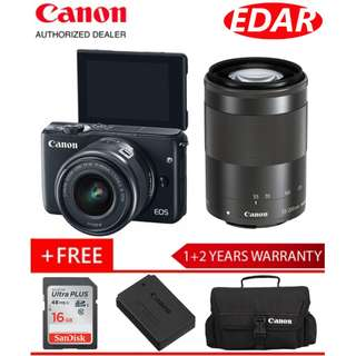 CANON EOS M10 WITH EFM 15-45MM + EFM 55-200MM Lens (ORIGINAL & OFFICIAL CANON)