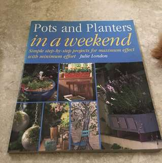 Post and planters in a weekend