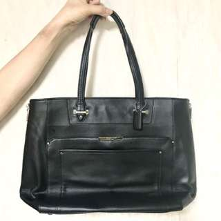 COACH New York 黑色真皮袋 100%真品 名牌