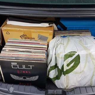 Approx. 300 Original Pressing Vinyl LP EP 12 Inch Singles Car Boot Sale, Sunday, 11 February, 530pm