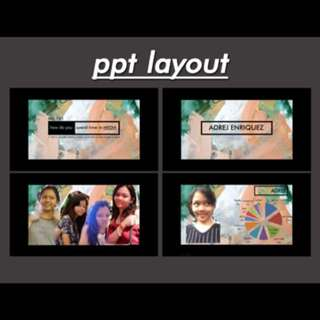 PPT Layout & etc!