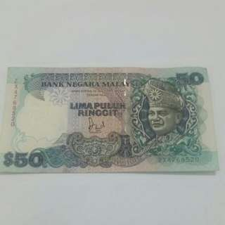 RM50 Old Bank Note