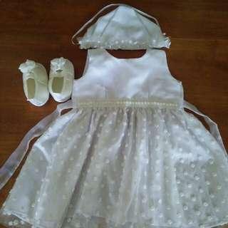 preloved baptismal dress 3-9 months