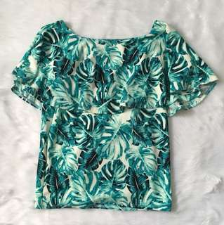 Palm leaves nursing top