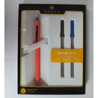 Cross Classic Click Orange Sunburst  Gel Ink Pen  2 Free Refills - AT0622H-13/17