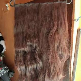 Hairclip big layer dark brown