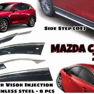 Mazda CX-5 2017 Door Visor Steel (8 pcs)
