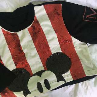 Mickey mouse crop top 💕