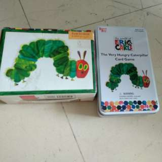 The very hungry caterpillar card game and jigsaw