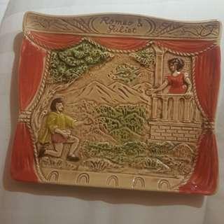 Shakespeare Romeo & Juliet Ceramic Plate
