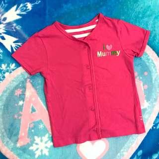 Mothercare 女童裝棉質短袖上衣外套