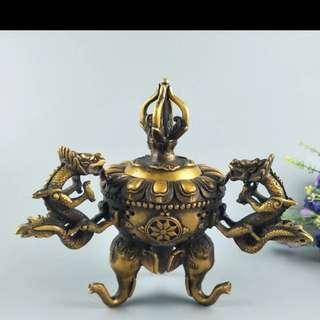 銅香爐(龍)
