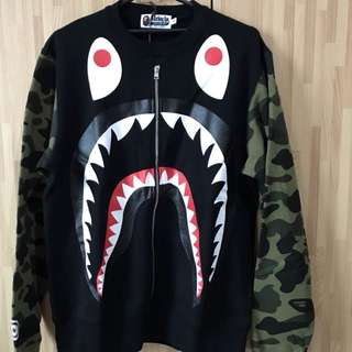 Bape Big Shark Wide Crewneck Original