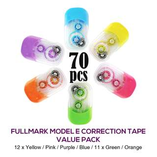 RM100 Value Pack! 70pcs x Fullmark Model E Correction Tapes