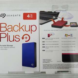 Seagate 4tb backup plus