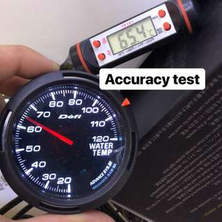 Accuracy testing for defi and greddy gauges