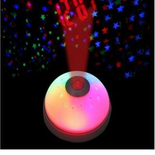 Magic LED Color-Change Star Night Projection Projector Alarm Clock Table Clock