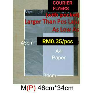 Courier Flyers with pocket