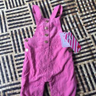 Cute pink overalls - new/size 0-3months