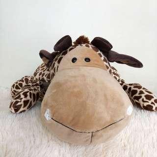 Giraffe Travel Pillow Blanket
