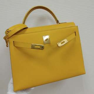 Hermes kelly 32 epsom yellow